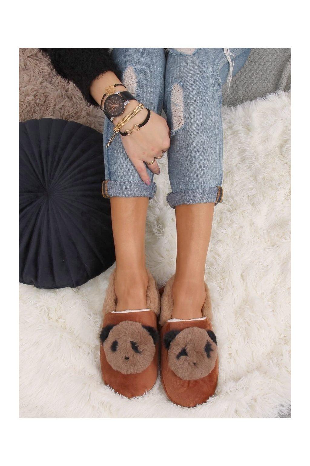 Damske ponožky hnedé DN2123