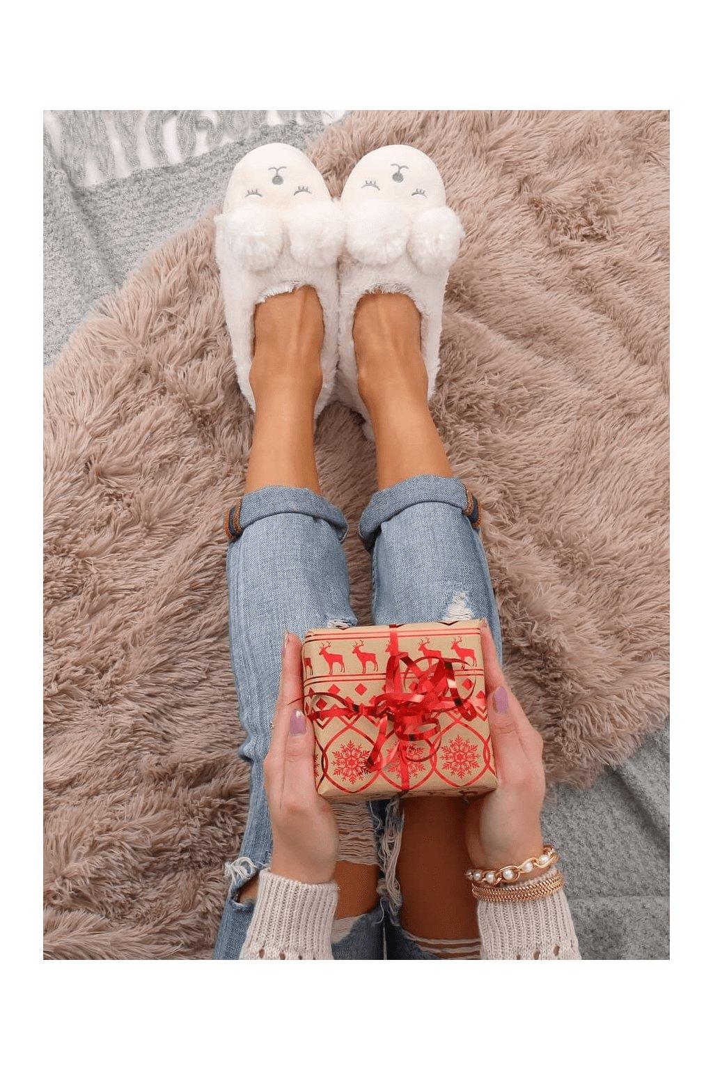 Damske ponožky biele DN2109