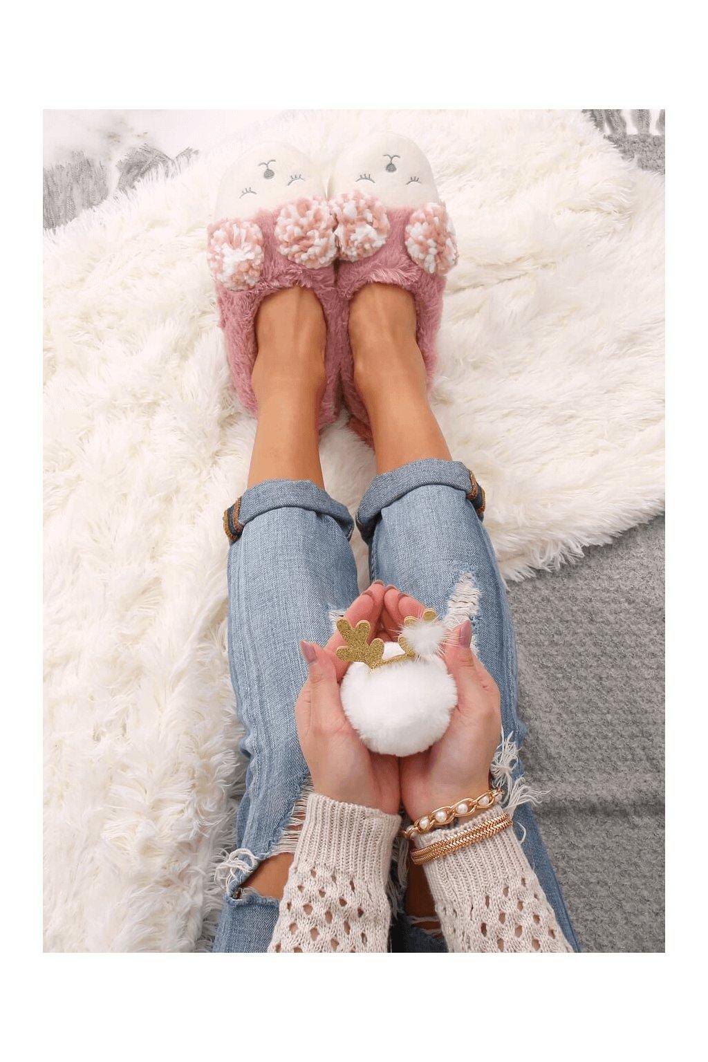 Damske ponožky ružové DN2109