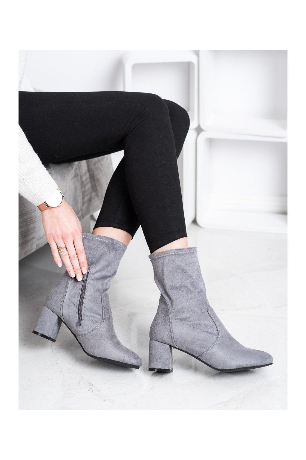 Sivé dámske topánky Kylie kod K1825115G