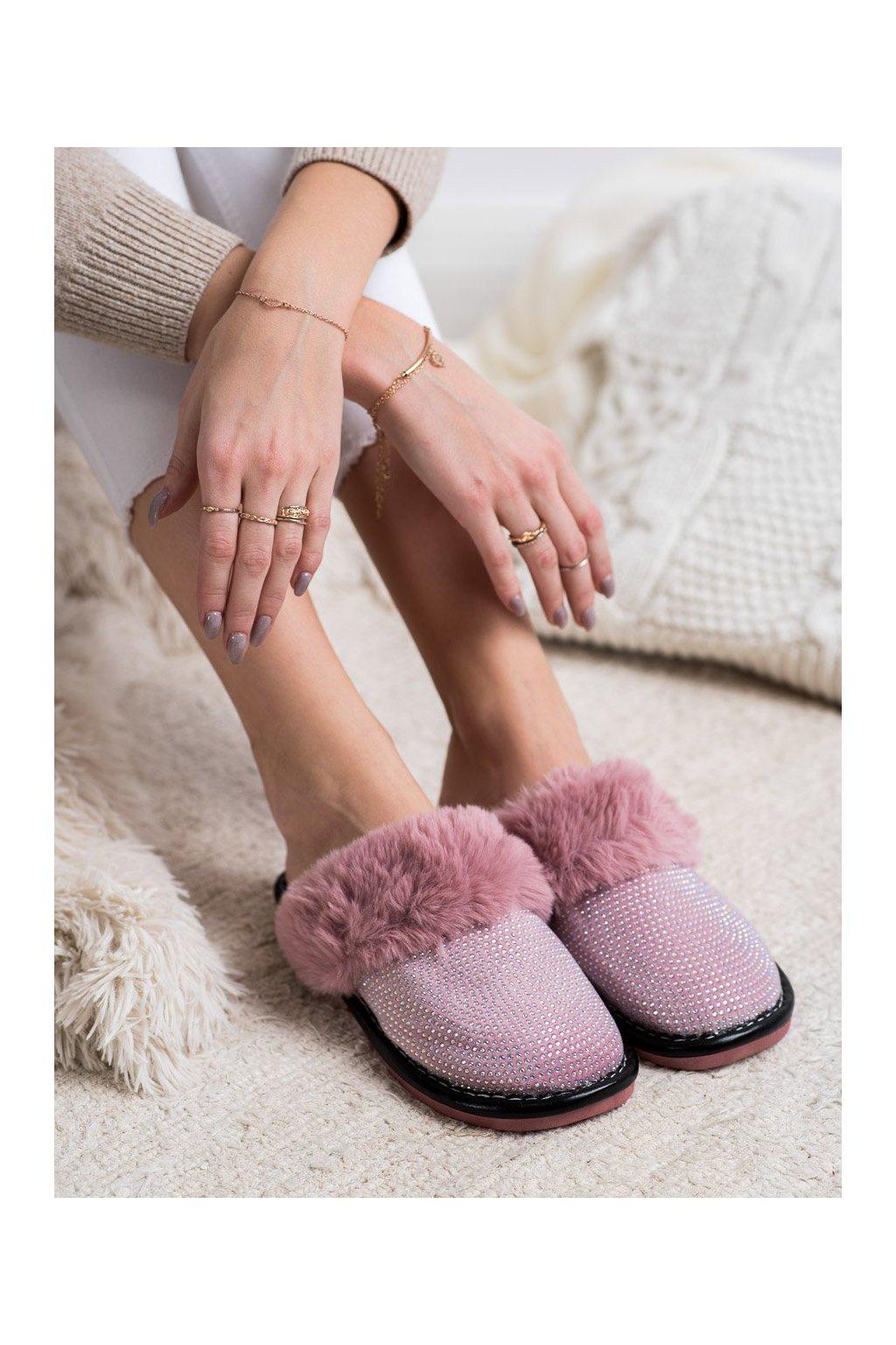 Fialové dámska obuv na doma Bona kod WG-215PU