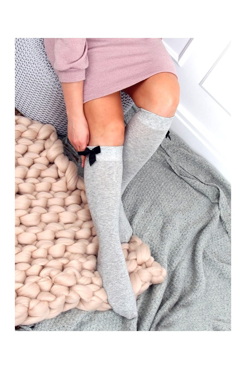 Damske ponožky sivé SK-NTP5637