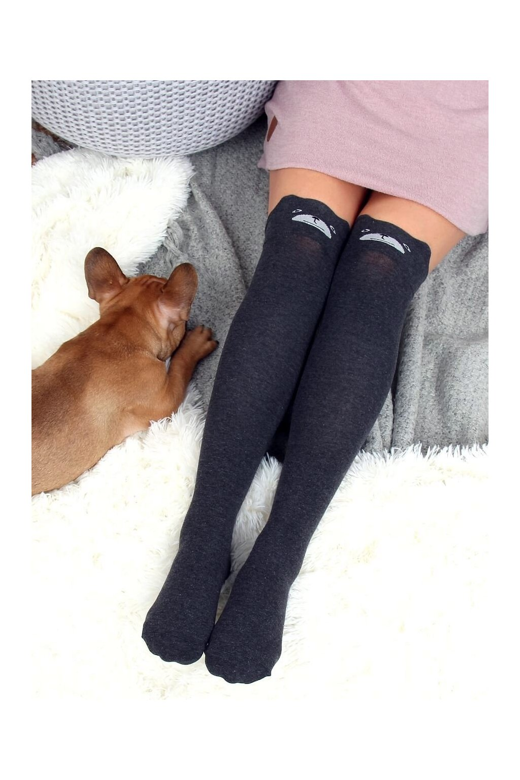 Damske ponožky sivé SK-NCP26