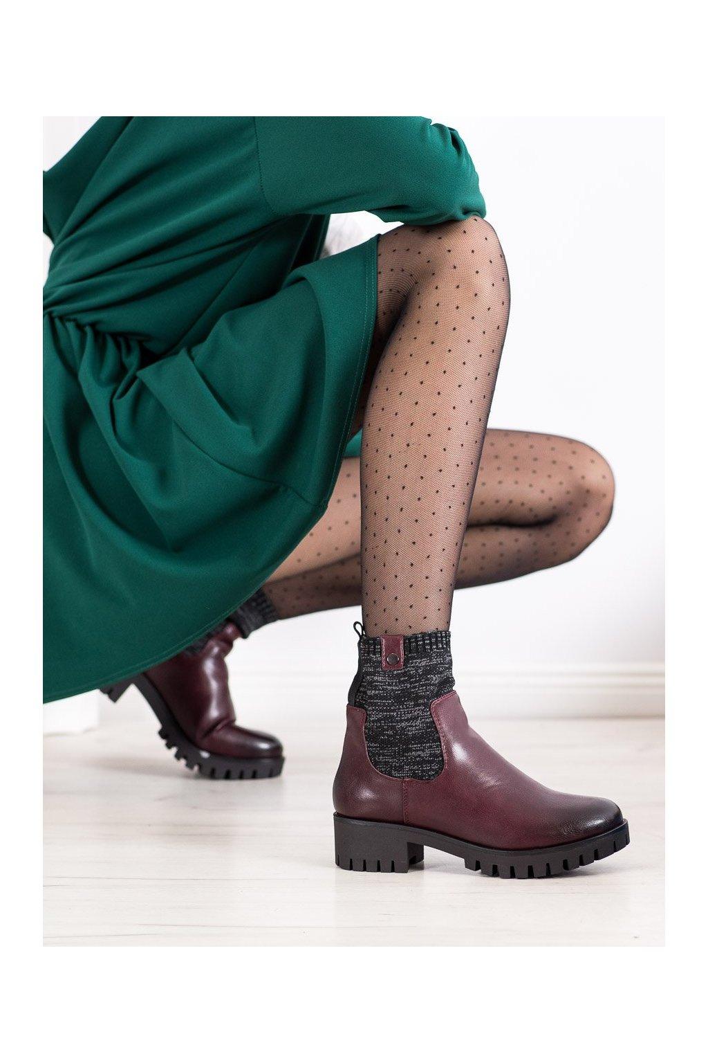 Červené dámske topánky Daszyński kod MR1813BOR