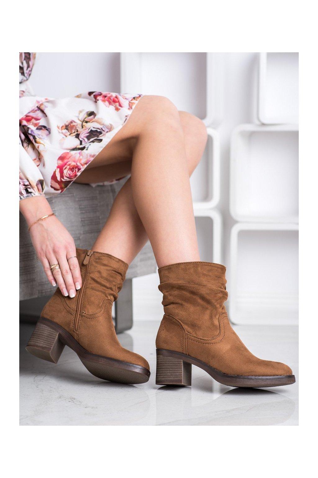 Hnedé dámske topánky Super mode kod 6341C