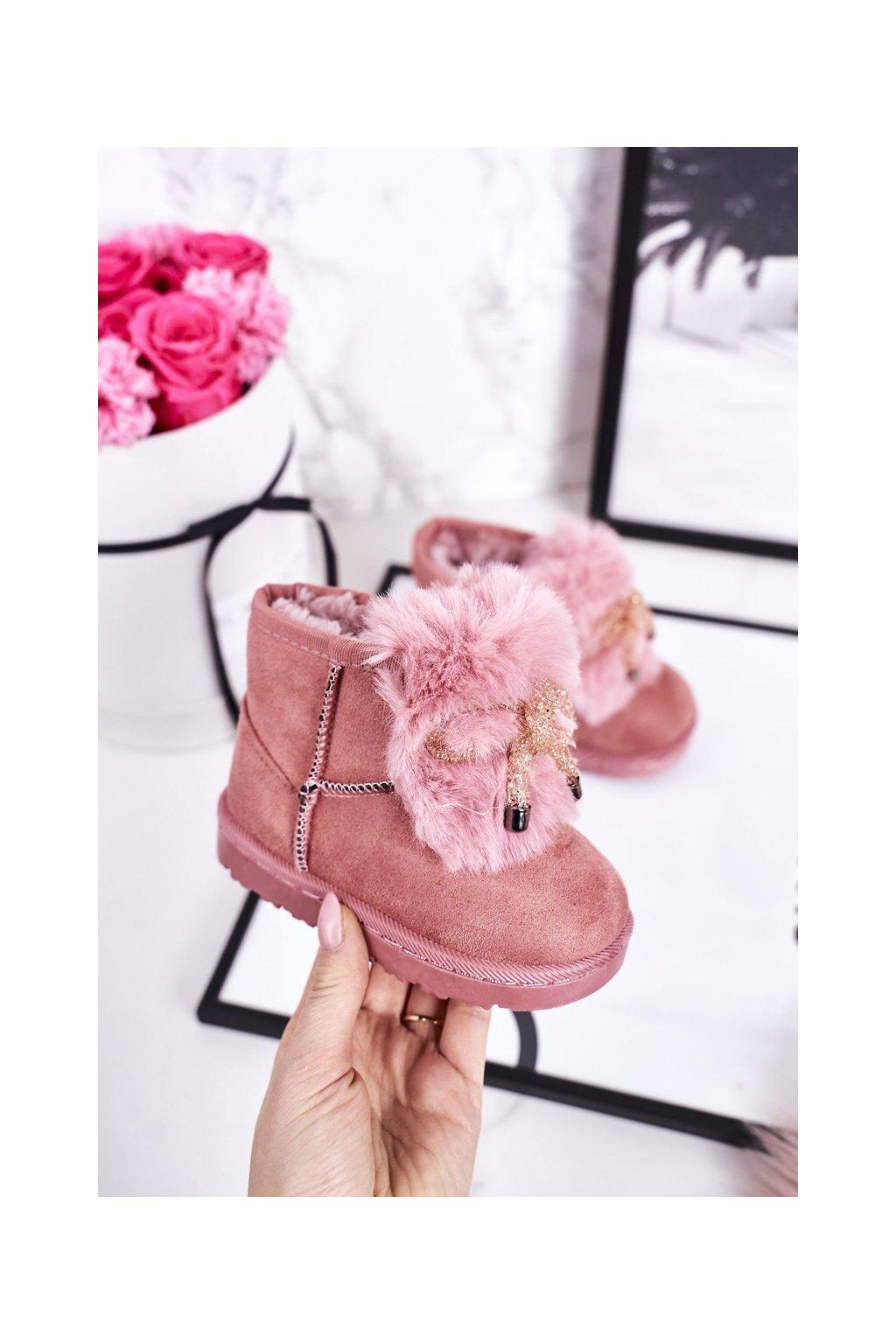 Detské snehule farba ružová kód obuvi 602-1C PINK