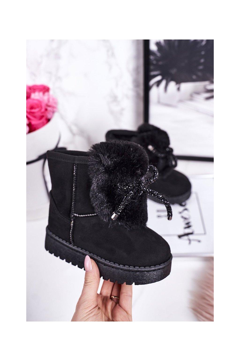 Detské snehule farba čierna kód obuvi 602-2A BLACK