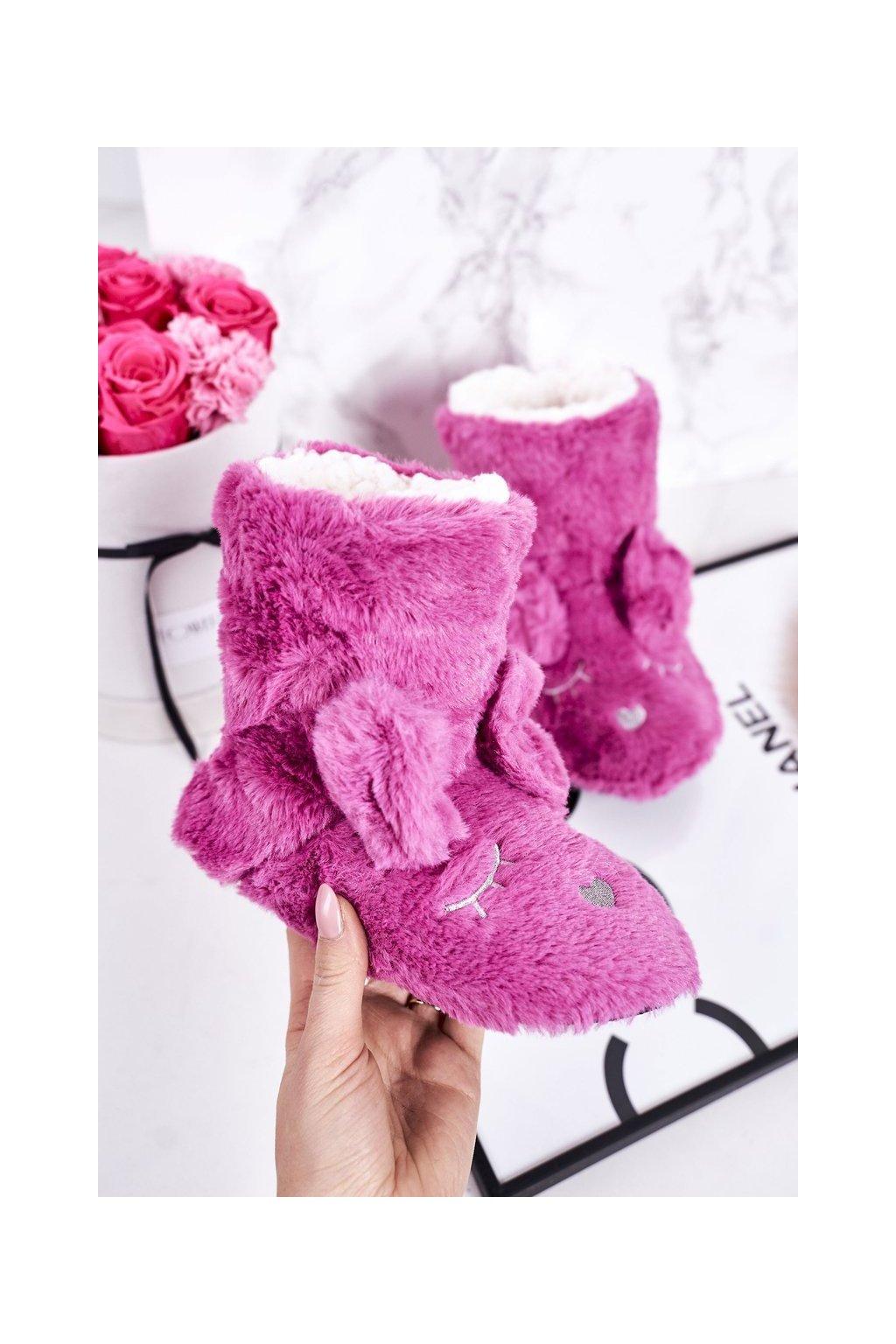 Detské šľapky farba ružová kód obuvi GM1267 FUKSJA