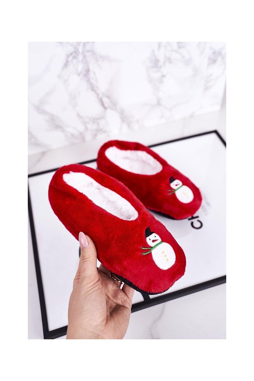 Detské šľapky farba červená kód obuvi GM1898 SNOWMAN