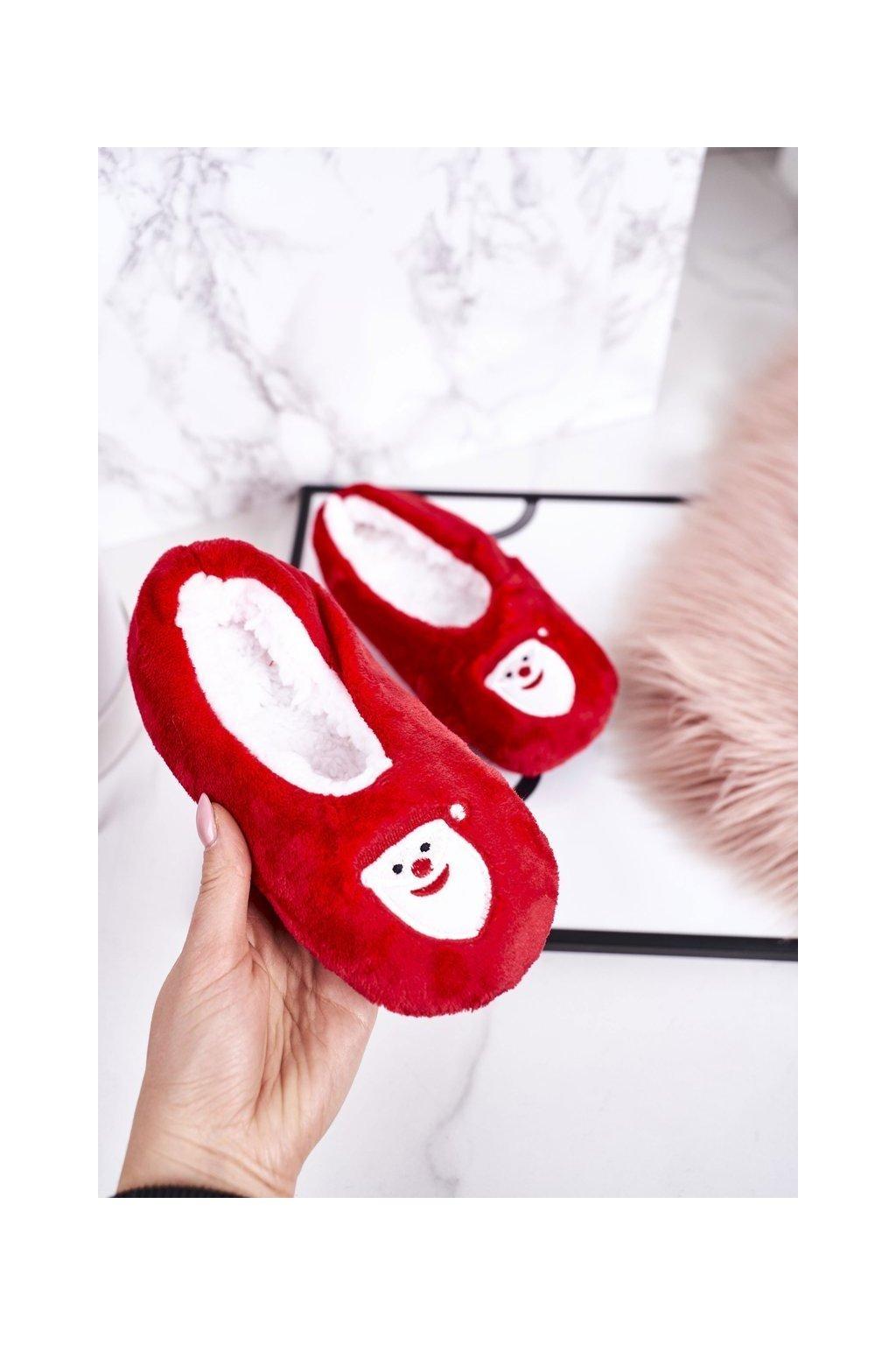 Detské šľapky farba červená kód obuvi GM1898 SANTA