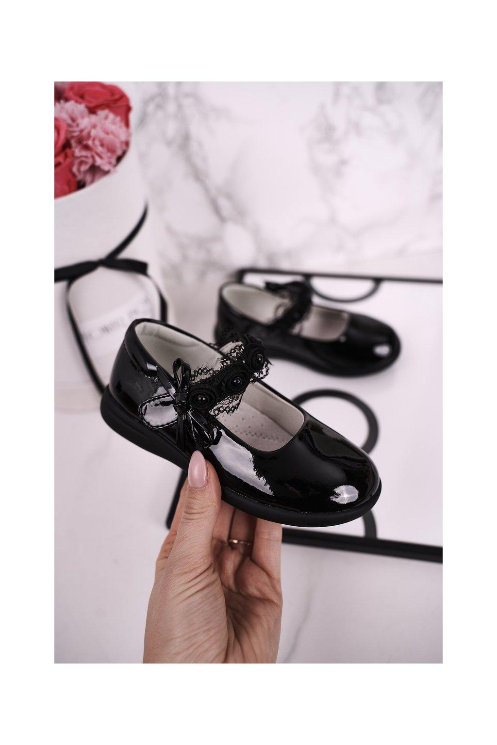 Detské balerínky farba čierna kód obuvi MC15 BLK