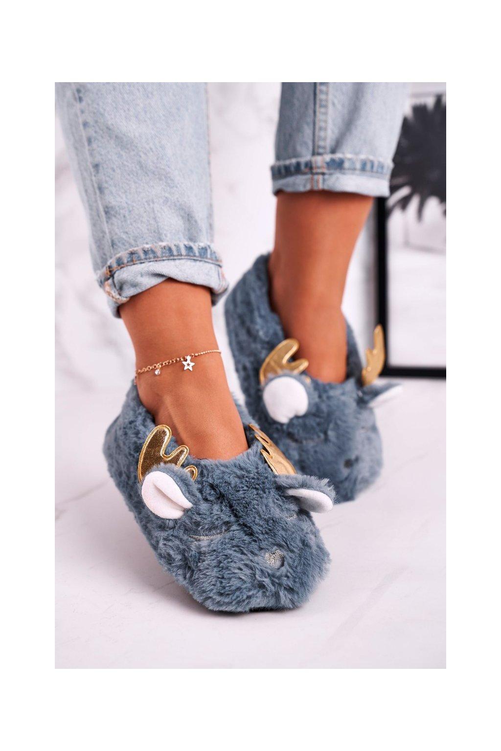 Dámske šľapky farba modrá kód obuvi NM5237 BLUE