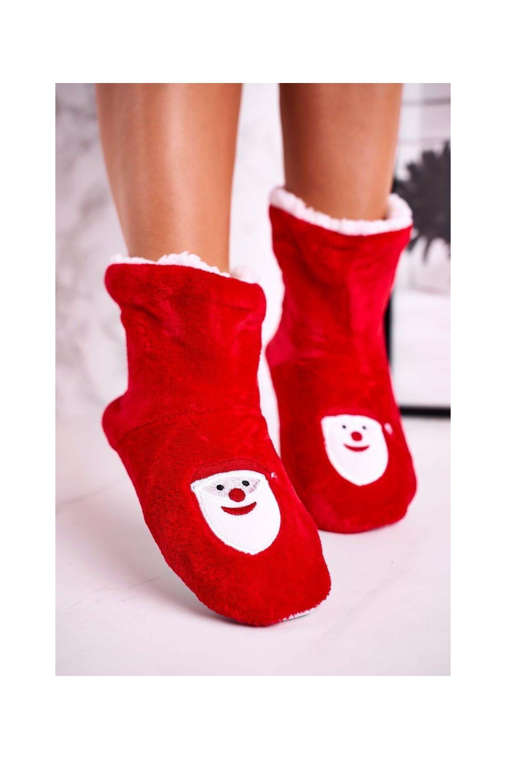 Dámske šľapky farba červená kód obuvi NM1900 SANTA