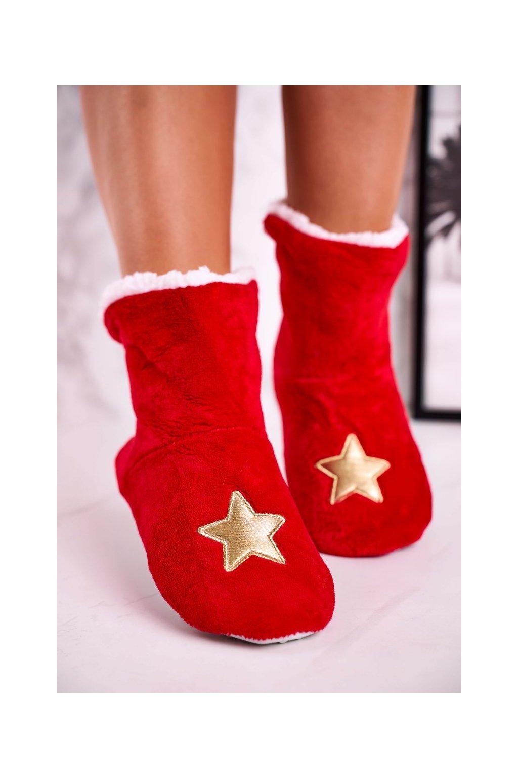 Dámske šľapky farba červená kód obuvi NM1900 STAR