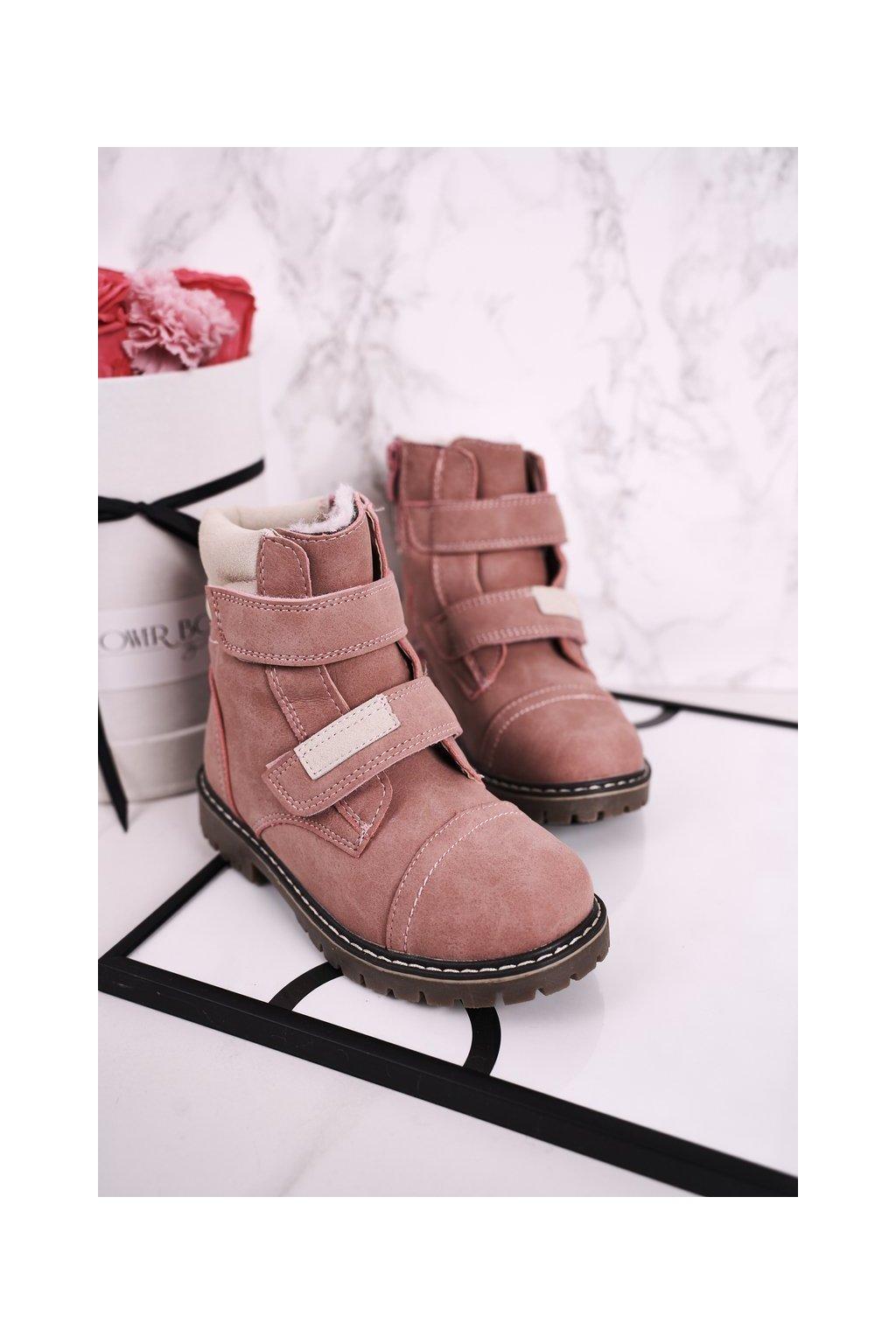 Detské členkové topánky farba ružová kód obuvi HD156 PINK