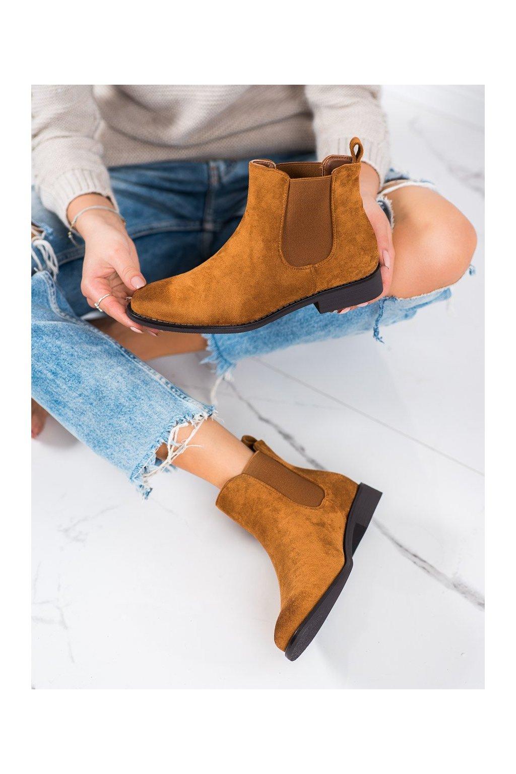 Hnedé dámske topánky Ideal shoes kod 8310C