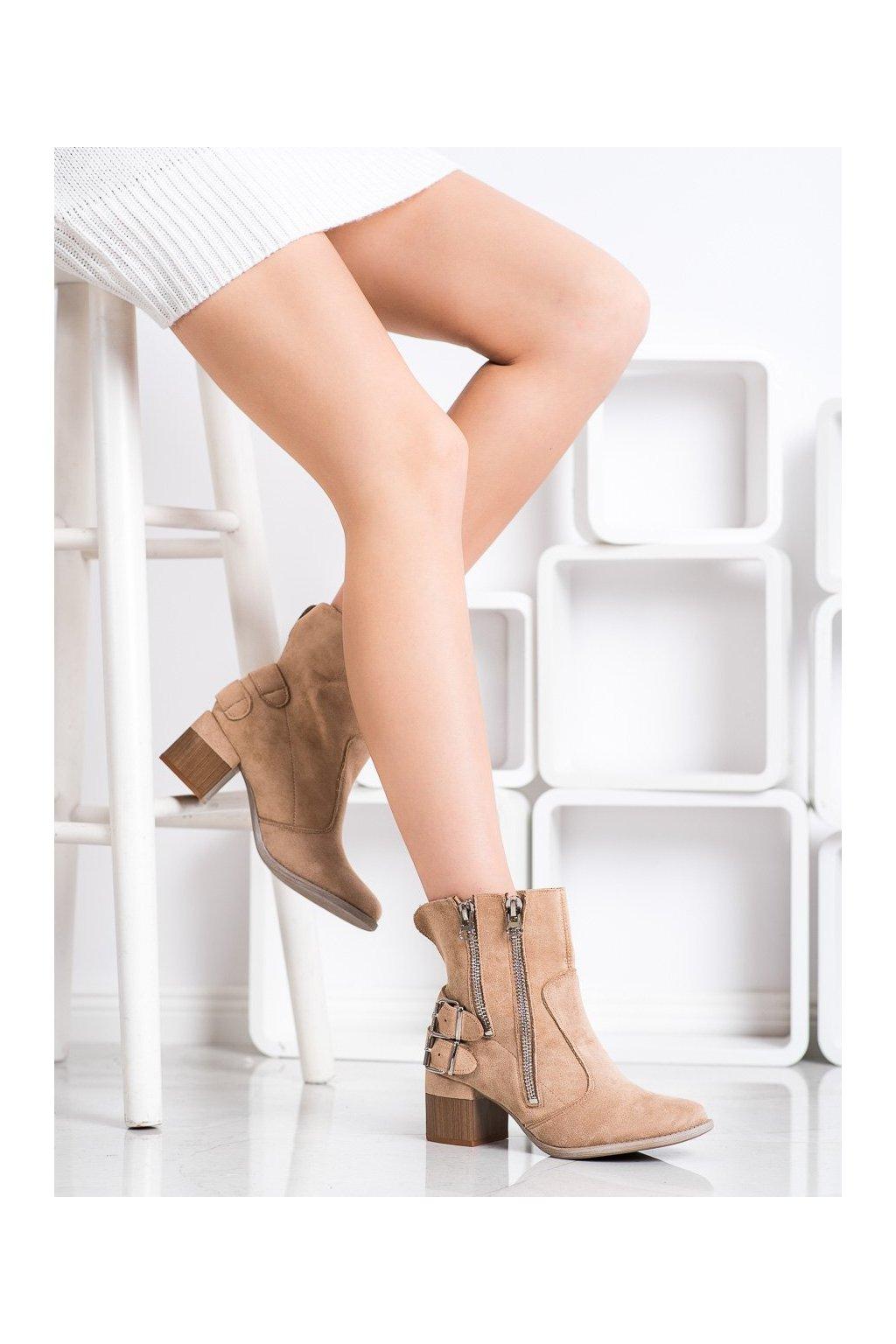 Hnedé dámske topánky Bella paris kod A6110KH