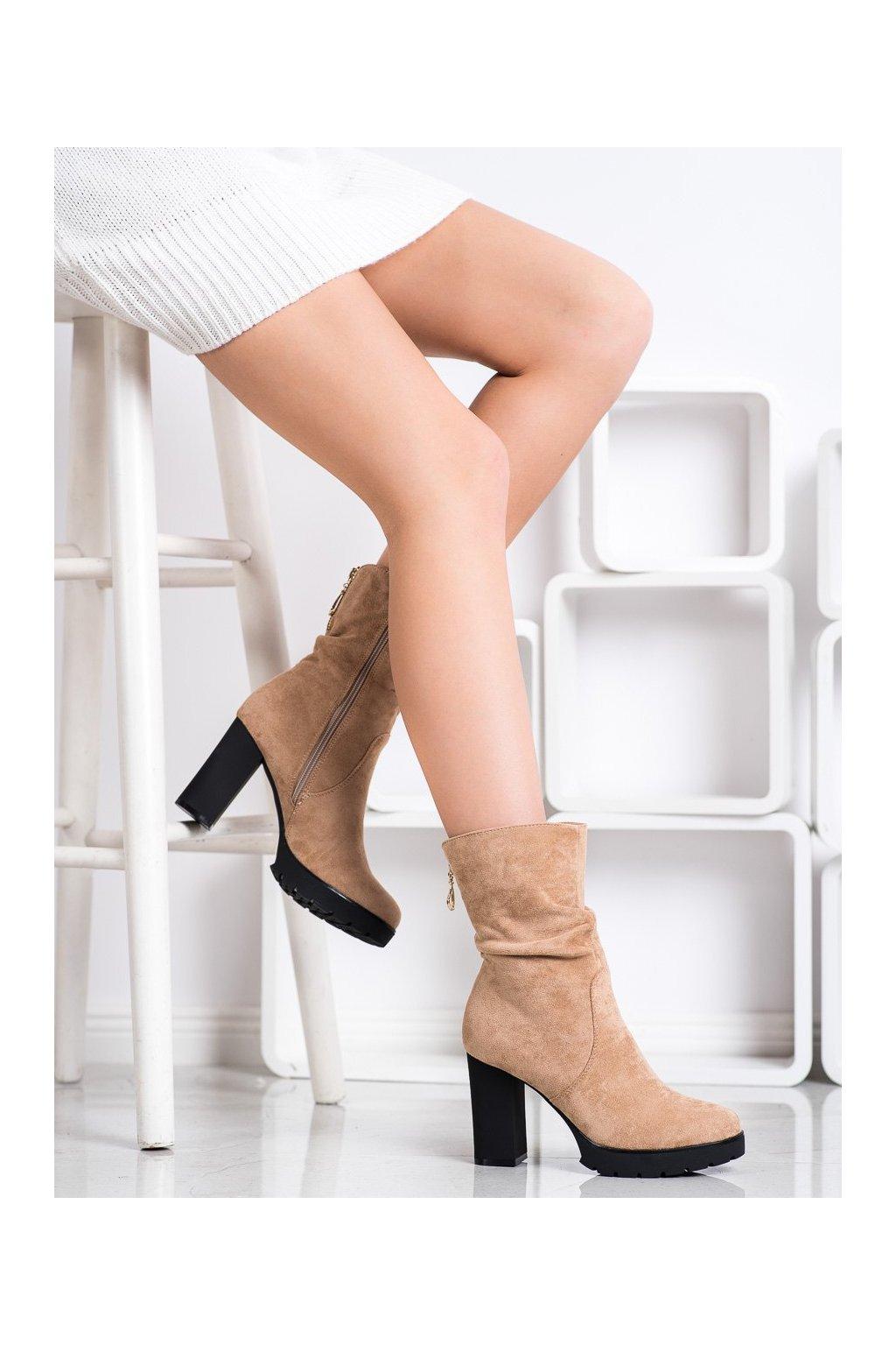 Hnedé dámske topánky Bella paris kod A5800KH