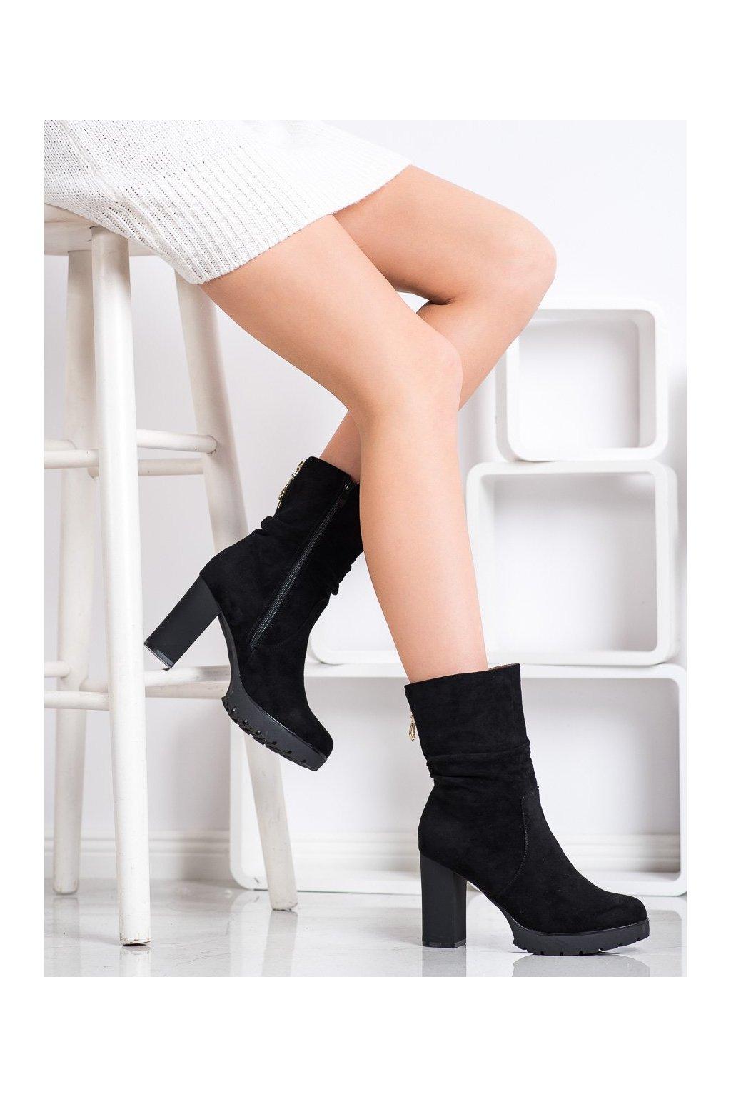 Čierne dámske topánky Bella paris kod A5800B