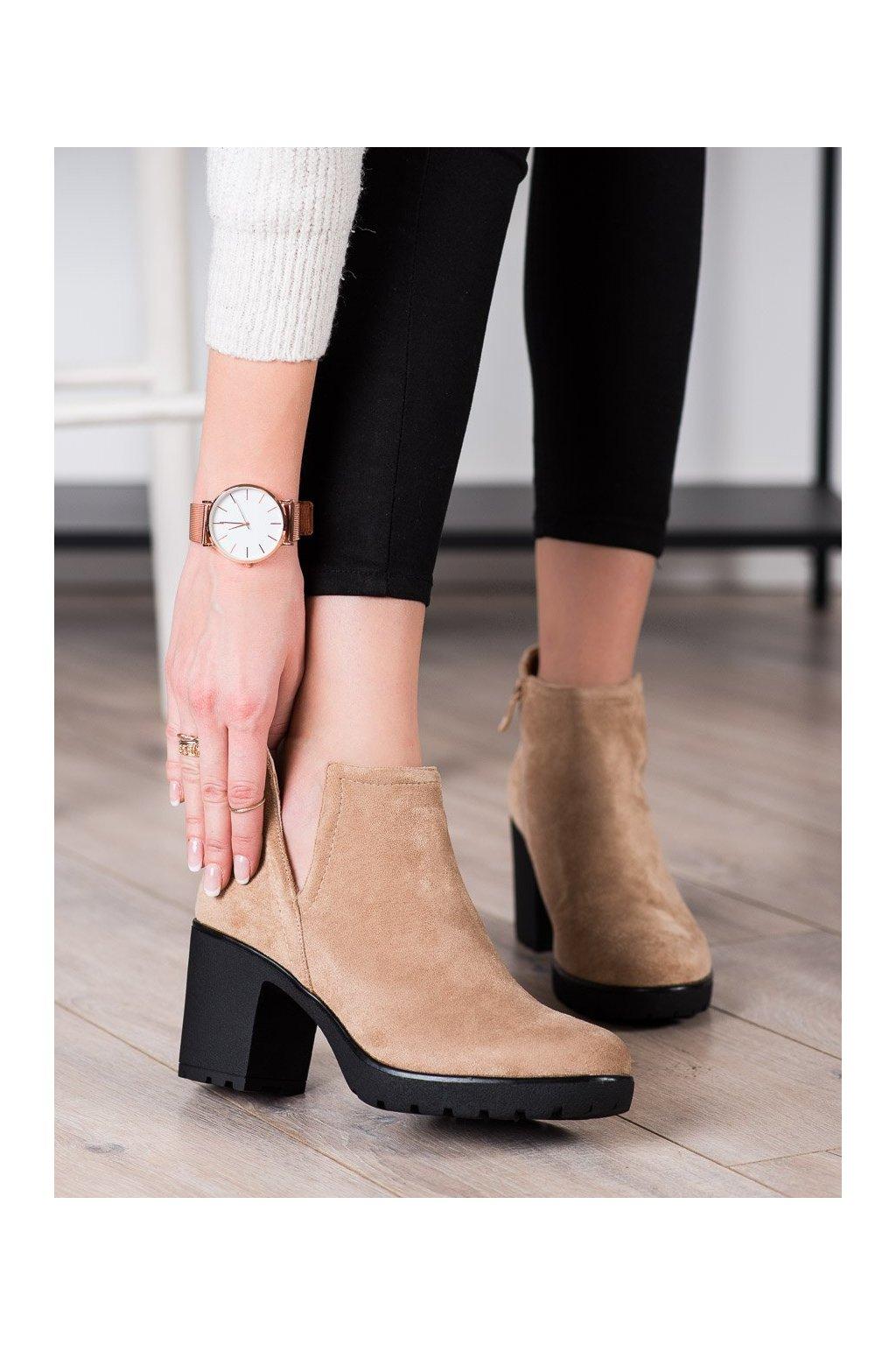 Hnedé dámske topánky Bella paris kod A5507KH