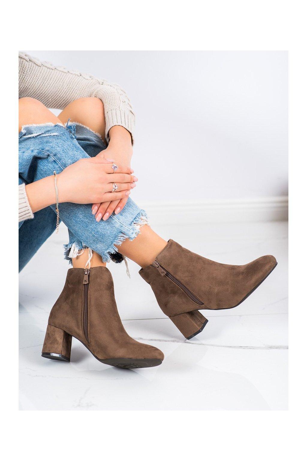 Hnedé dámske topánky Kylie kod K1825116T