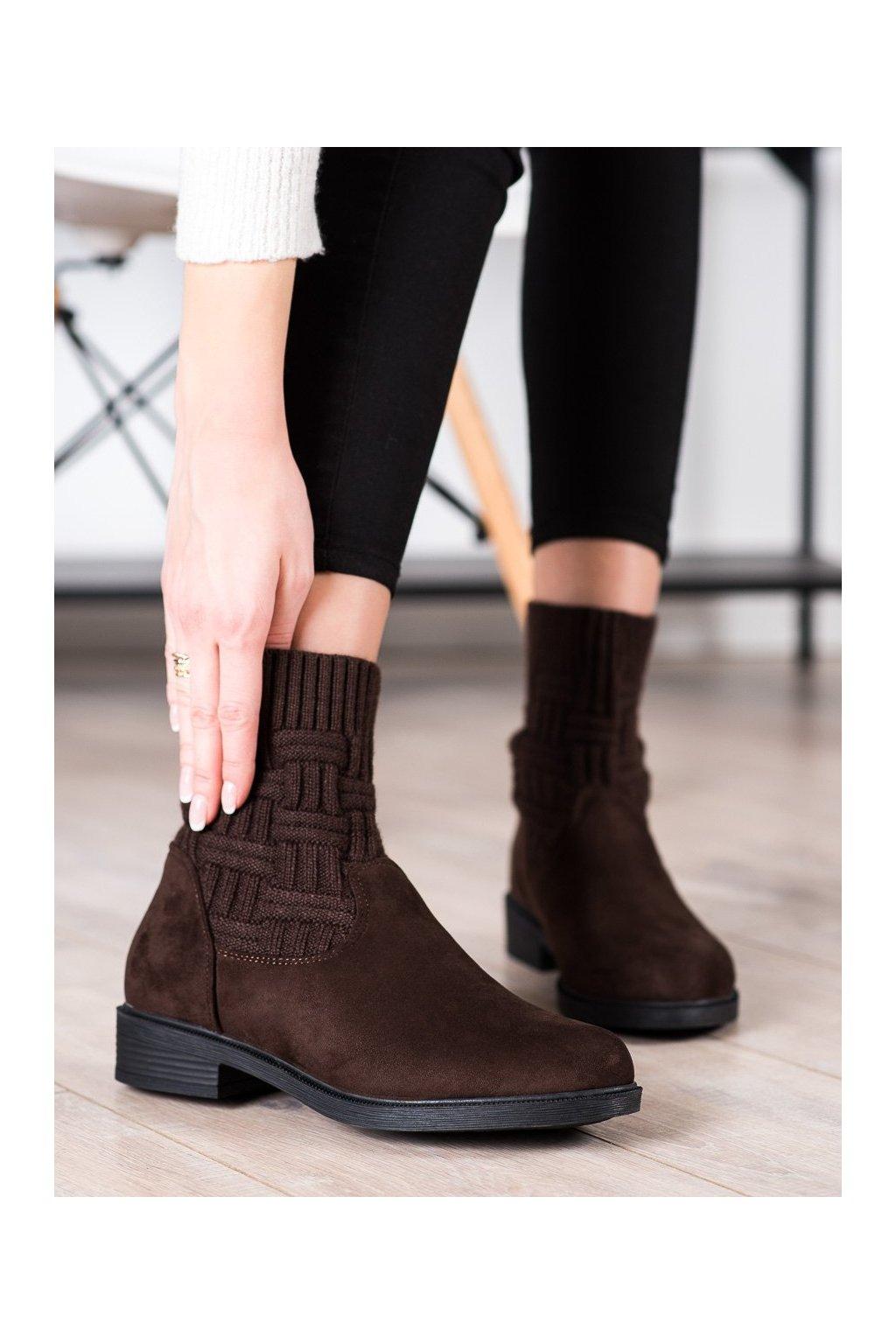 Hnedé dámske topánky Shelovet kod E2100BR