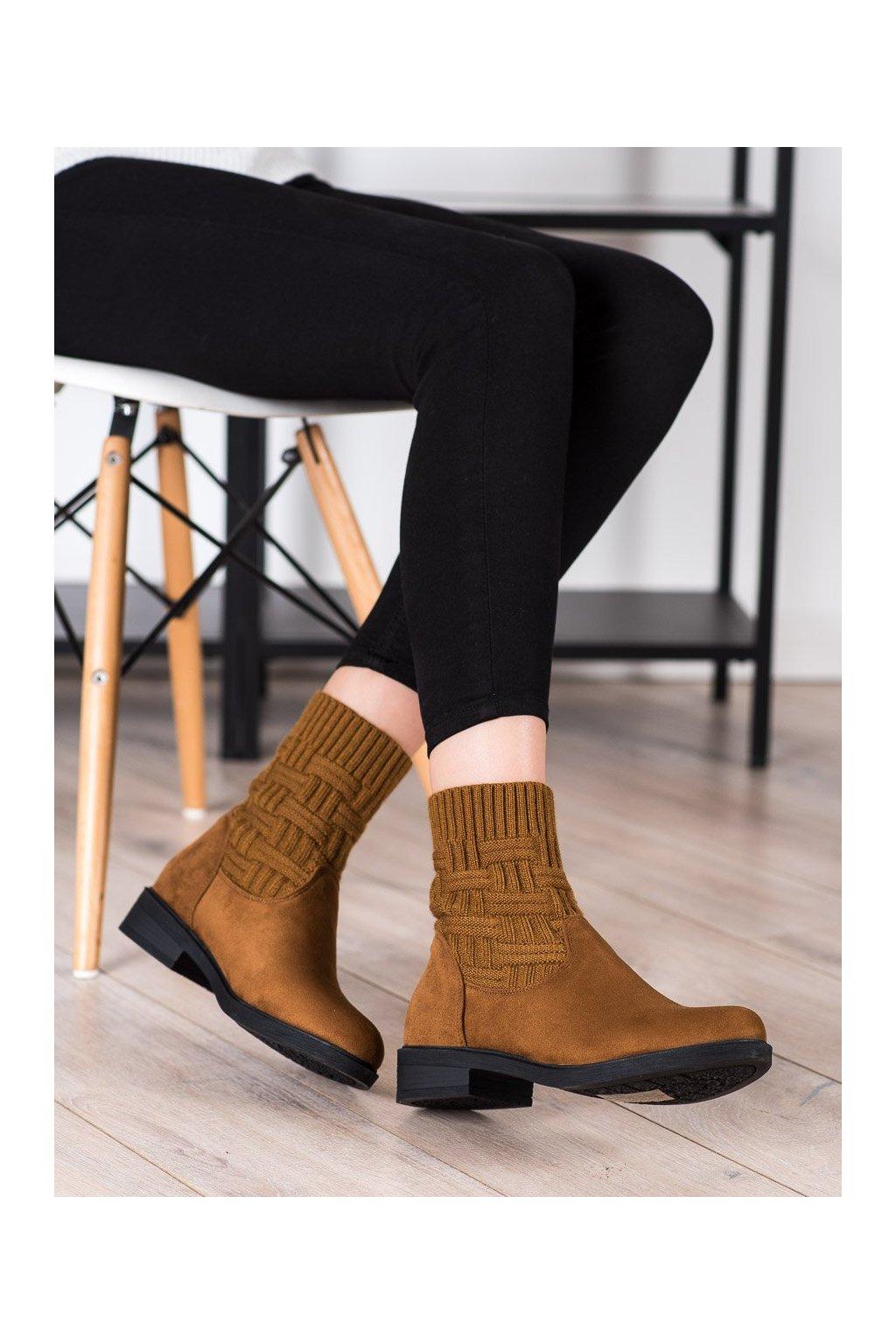 Hnedé dámske topánky Shelovet kod E2100C