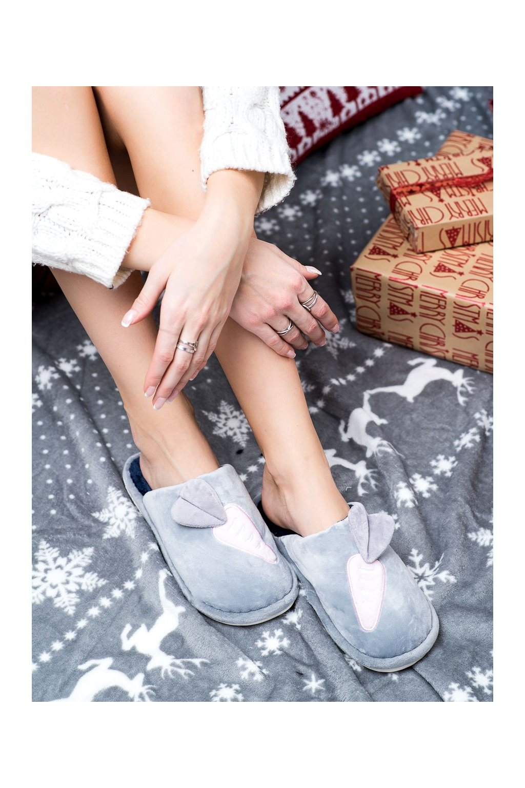 Sivé dámska obuv na doma Bona kod CF62G/N