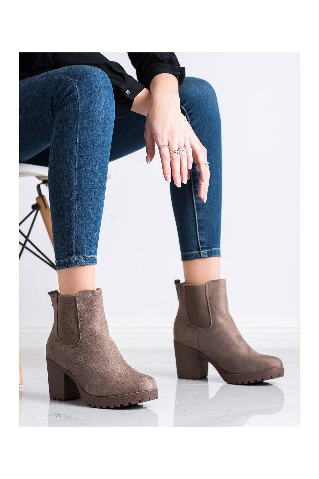 Hnedé dámske topánky Queentina kod B2880KH
