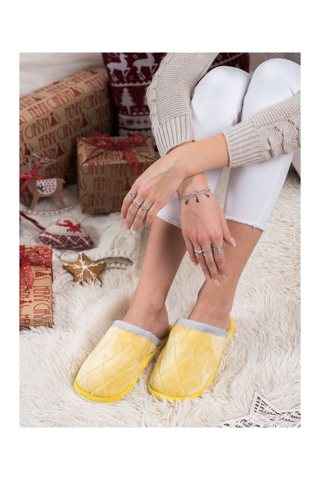 Žlté dámska obuv na doma Bona kod CF58GO/G