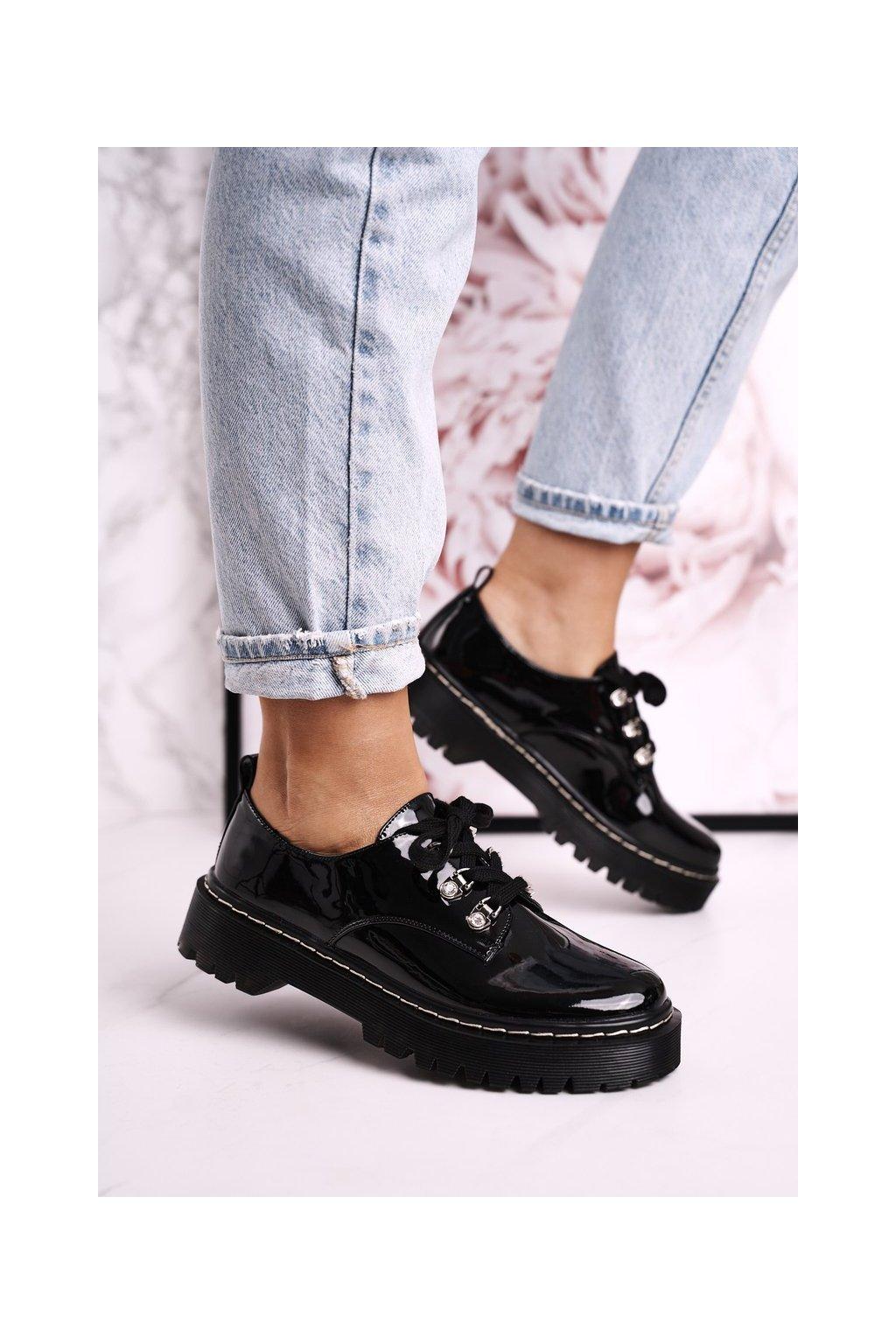 Dámske poltopánky farba čierna kód obuvi HX15 BLACK