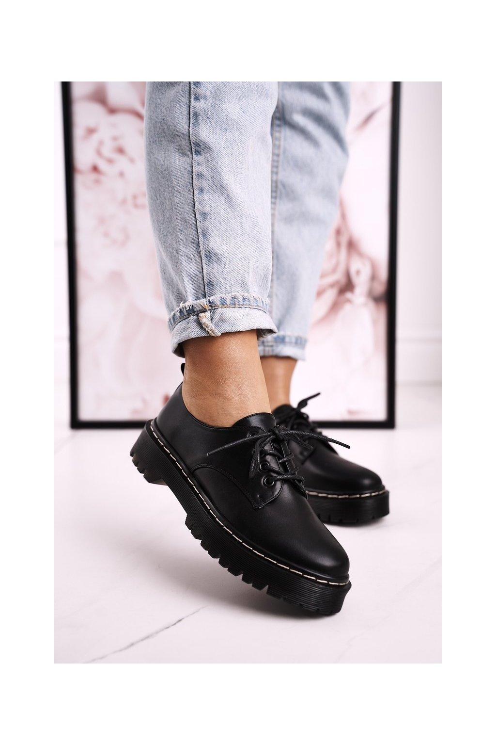 Dámske poltopánky farba čierna kód obuvi HX62 BLACK
