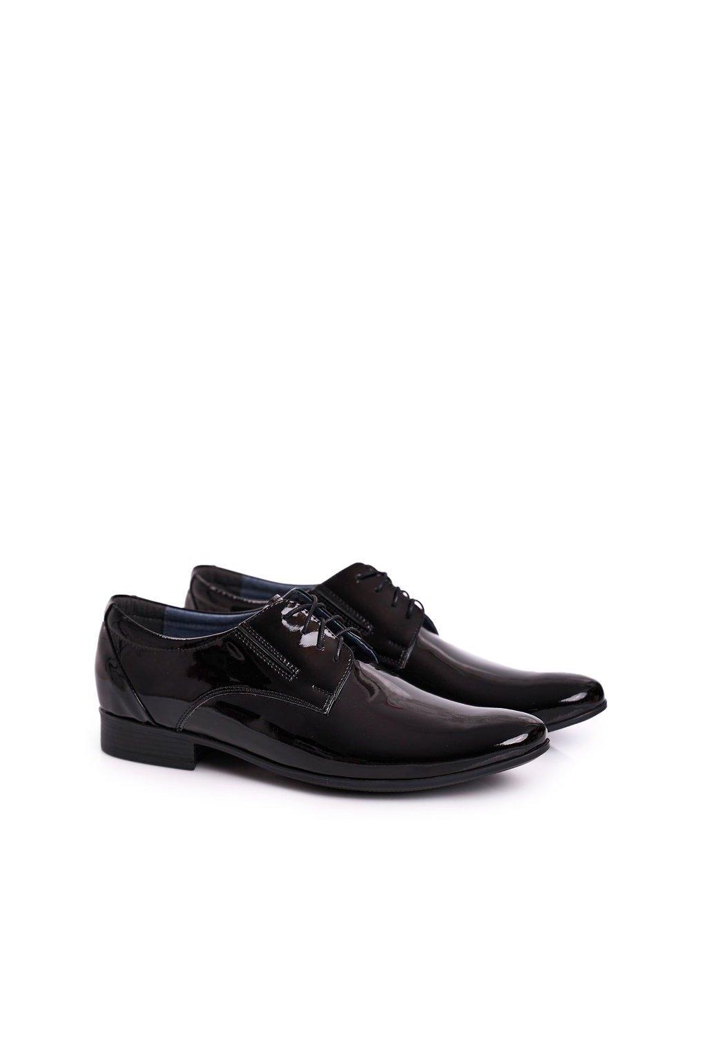 Pánske poltopánky farba čierna kód obuvi 694 BLK
