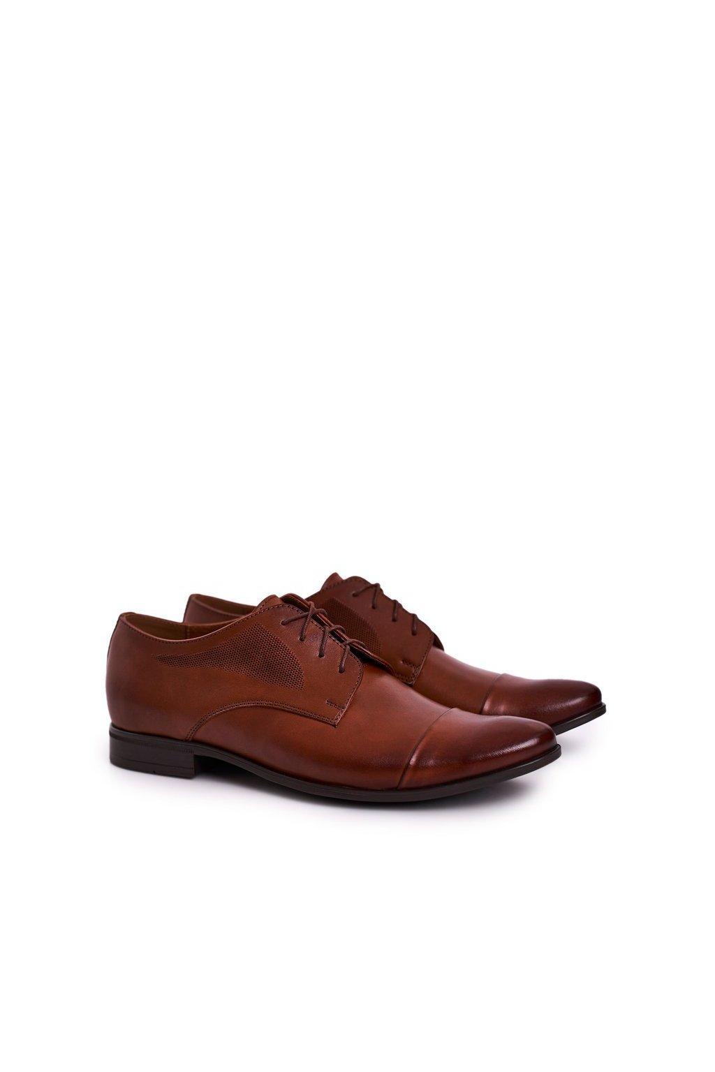 Pánske poltopánky farba hnedá kód obuvi 805 L.BROWN
