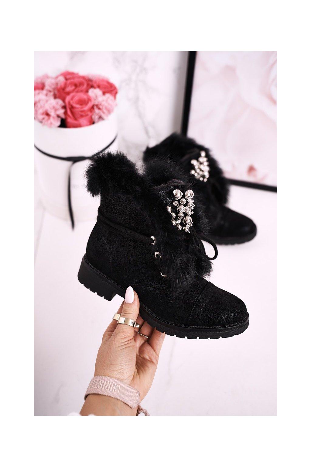 Detské členkové topánky farba čierna kód obuvi CT900HA BLK
