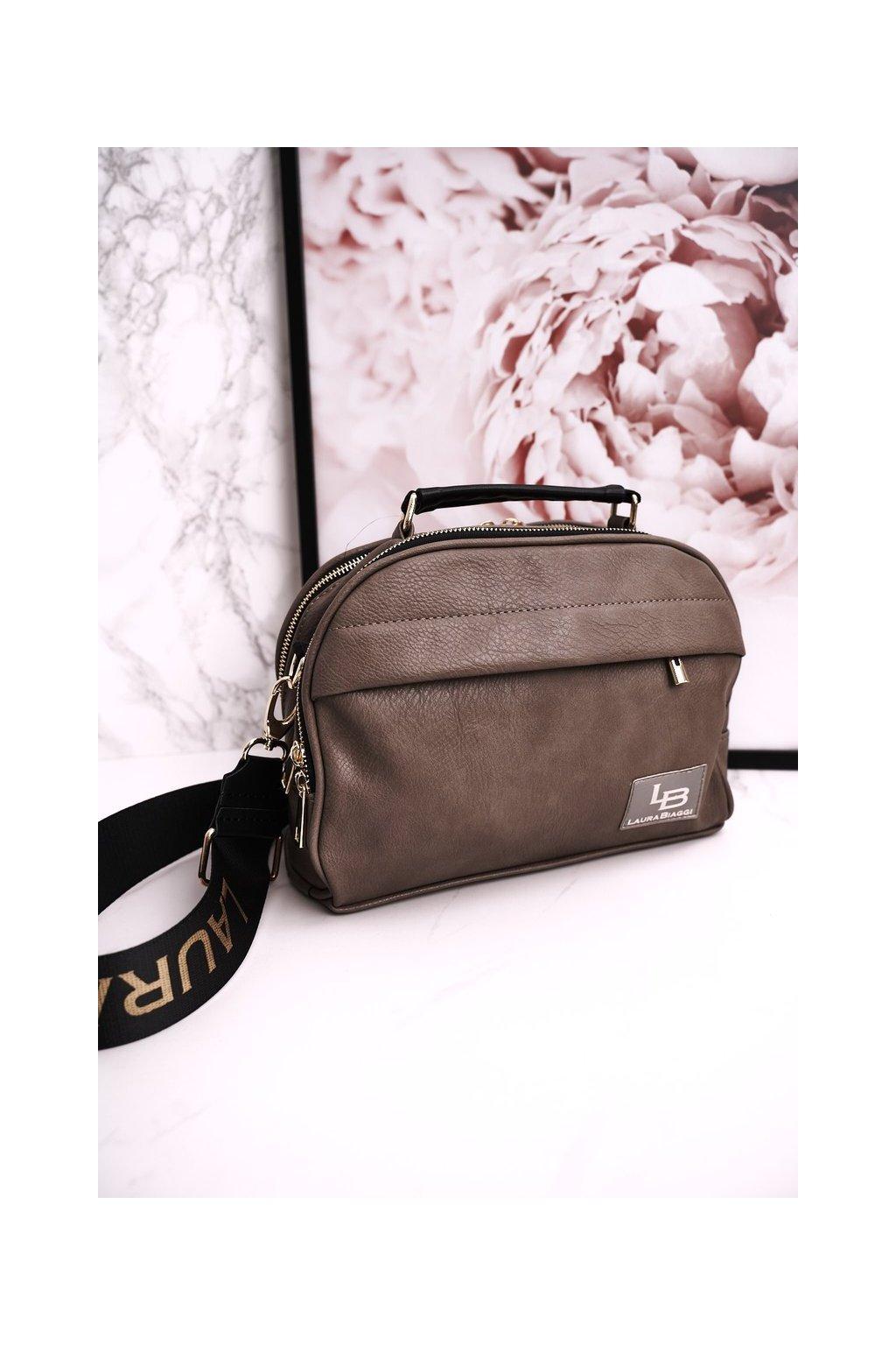 Dámska listová kabelka hnedá kód kabelky P291 BEIGE