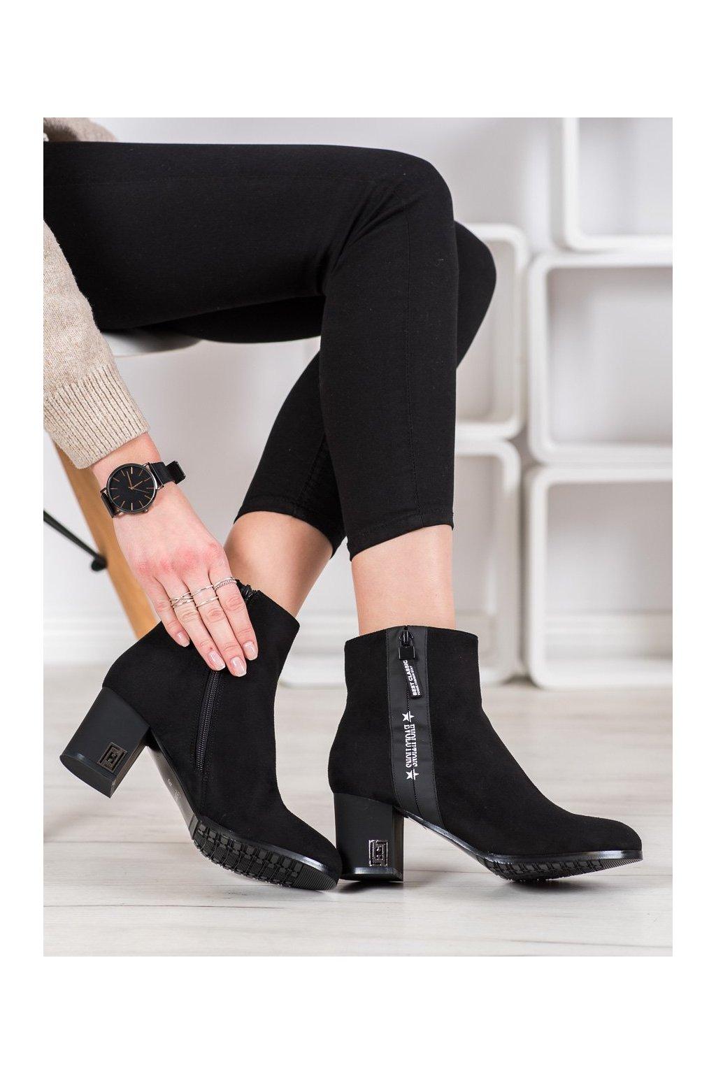 Čierne dámske topánky Gogo kod SG-307B