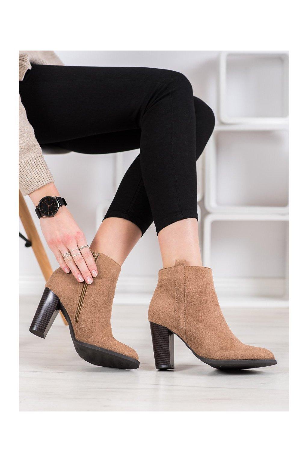 Hnedé dámske topánky Seastar kod UK09BE