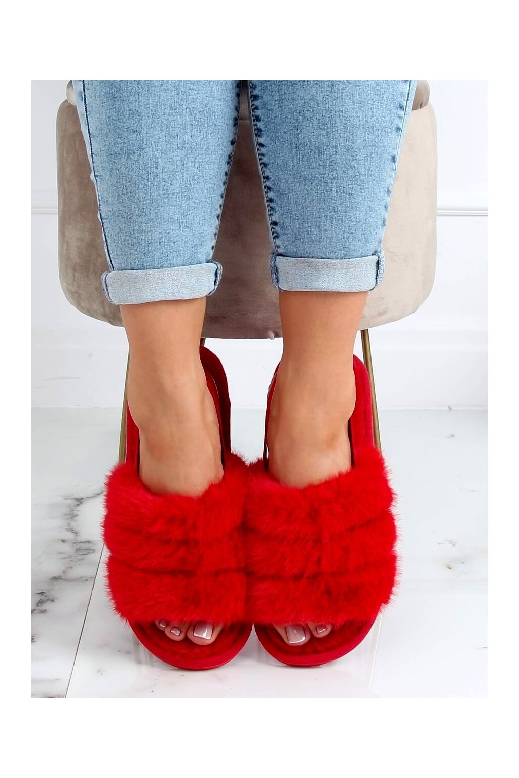 Damske ponožky červené KL-16