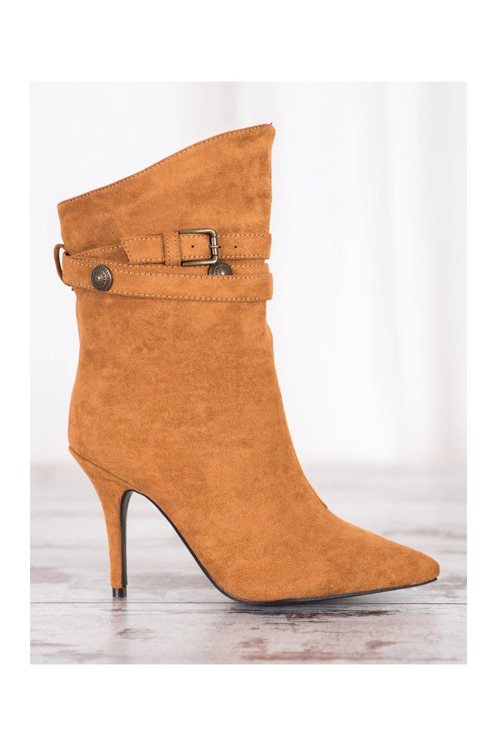 Hnedé dámske topánky Seastar NJSK RB73C