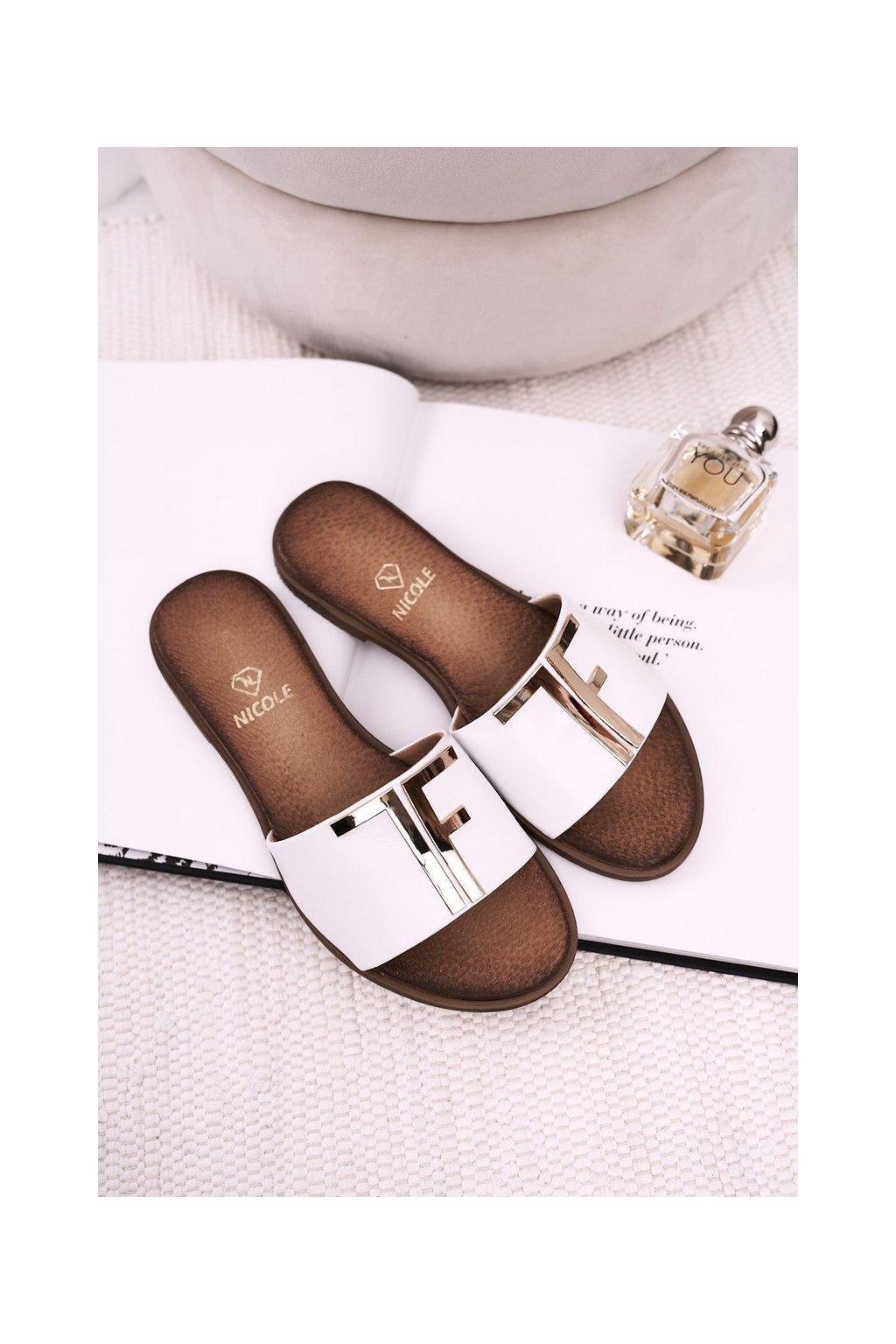 Dámske šľapky farba biela kód obuvi 2556/003 WHITE