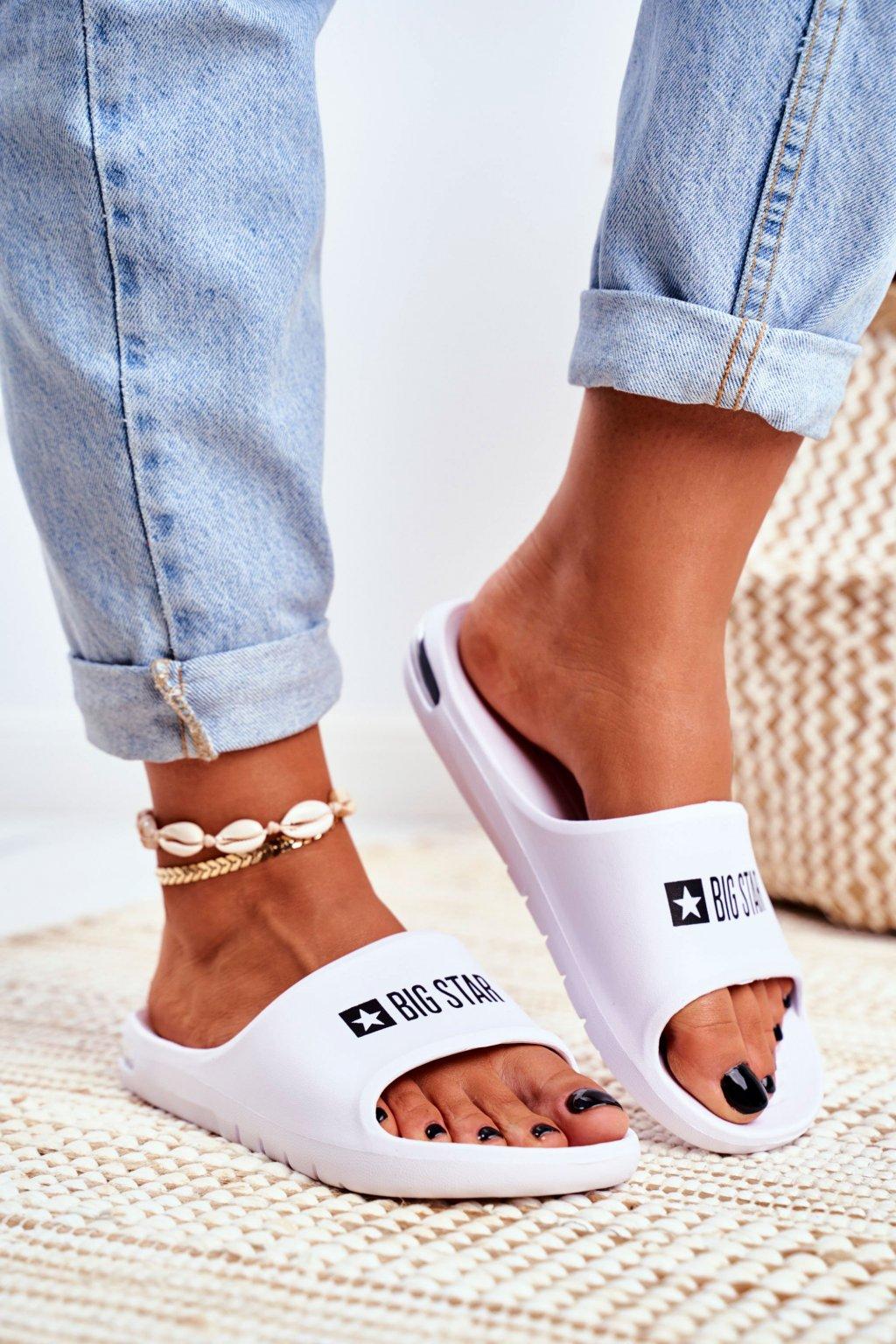 Dámske šľapky farba biela kód obuvi GG274A026 WHITE