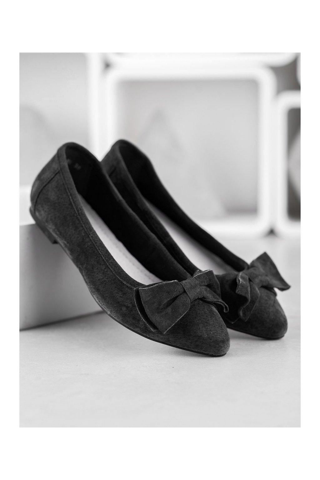 Čierne dámske balerínky Filippo kod DP1329/20B