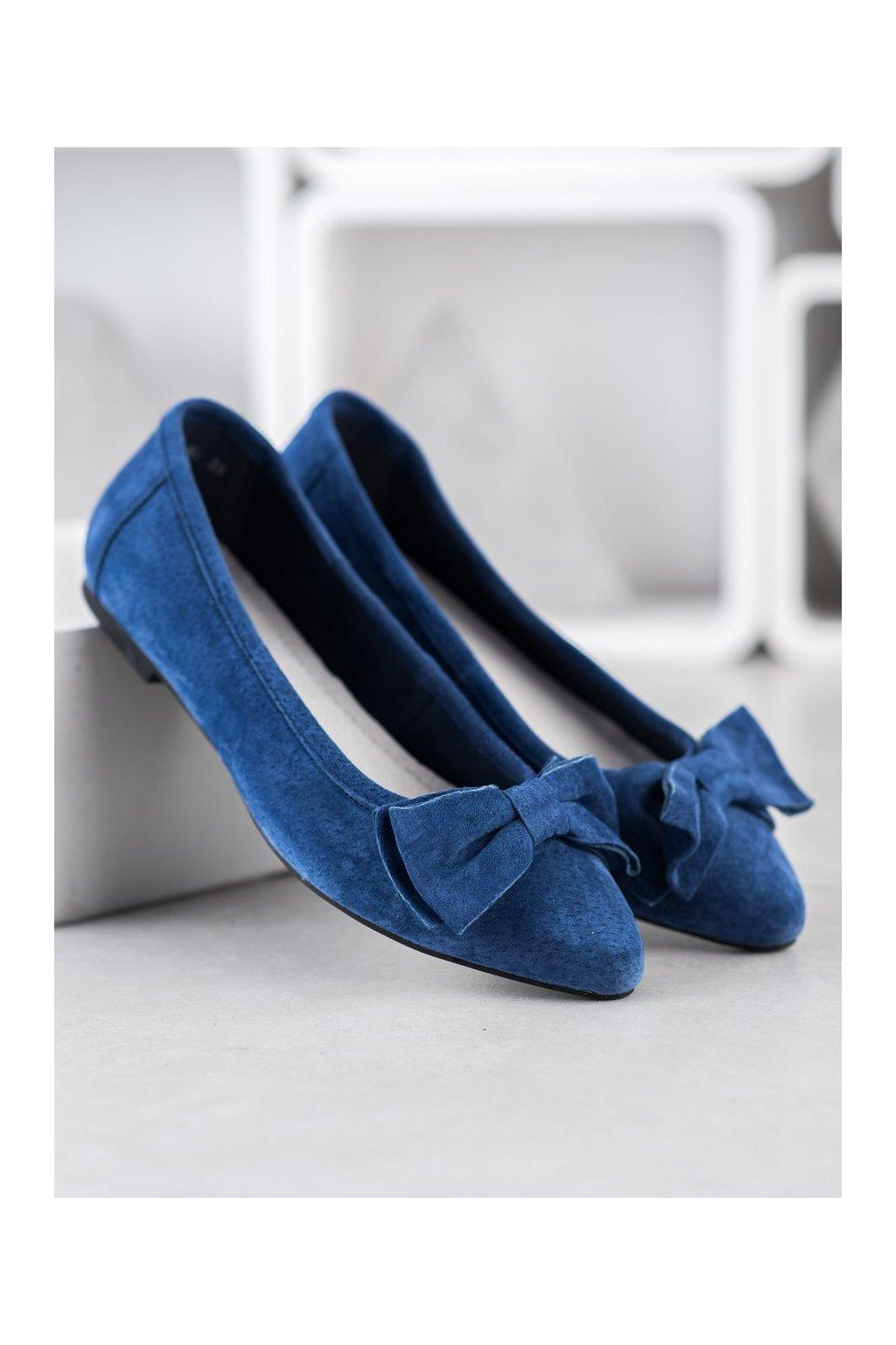Modré dámske balerínky Filippo kod DP1329/20N