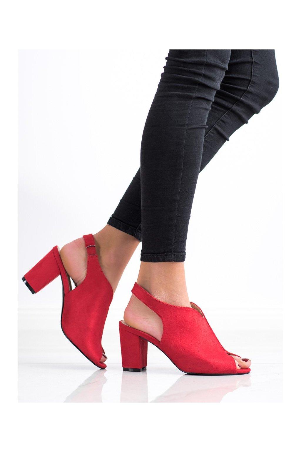 Červené sandále na podpätku Goodin kod GD-FL1503R