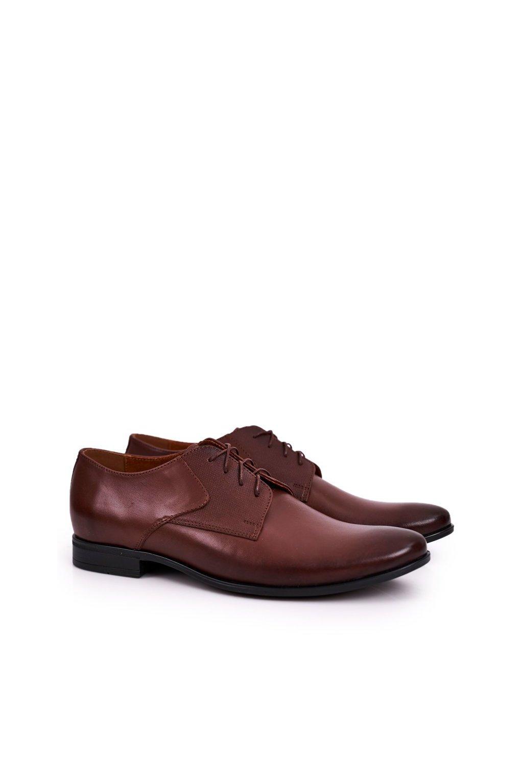 Pánske poltopánky farba hnedá kód obuvi 712 BROWN
