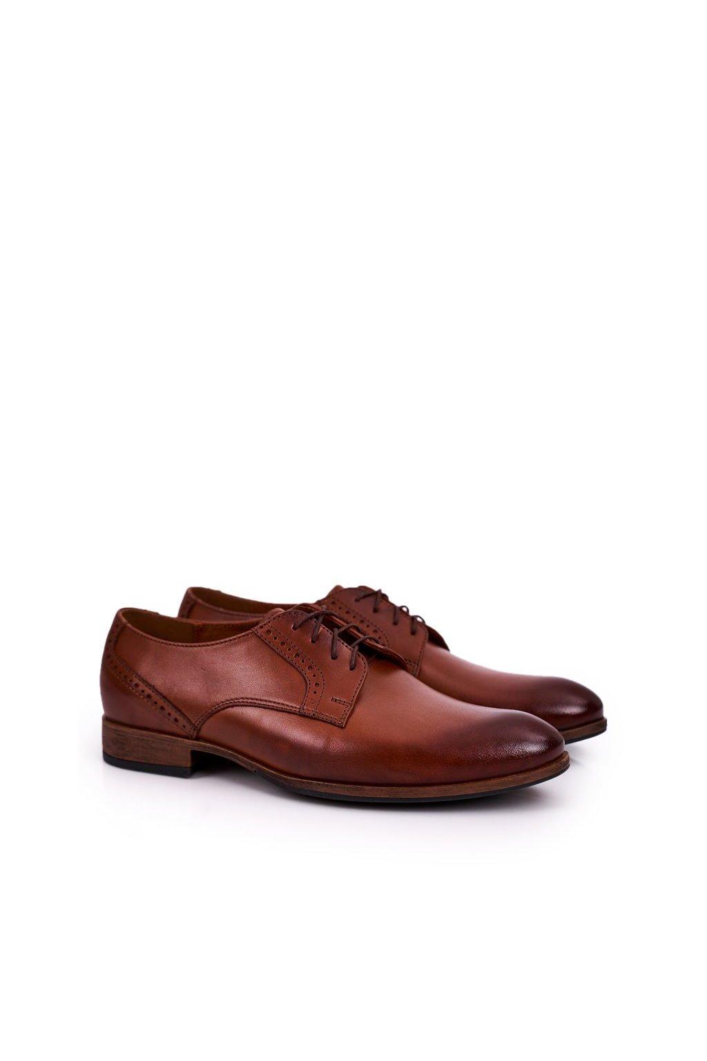 Pánske poltopánky farba hnedá kód obuvi 672 L.BROWN