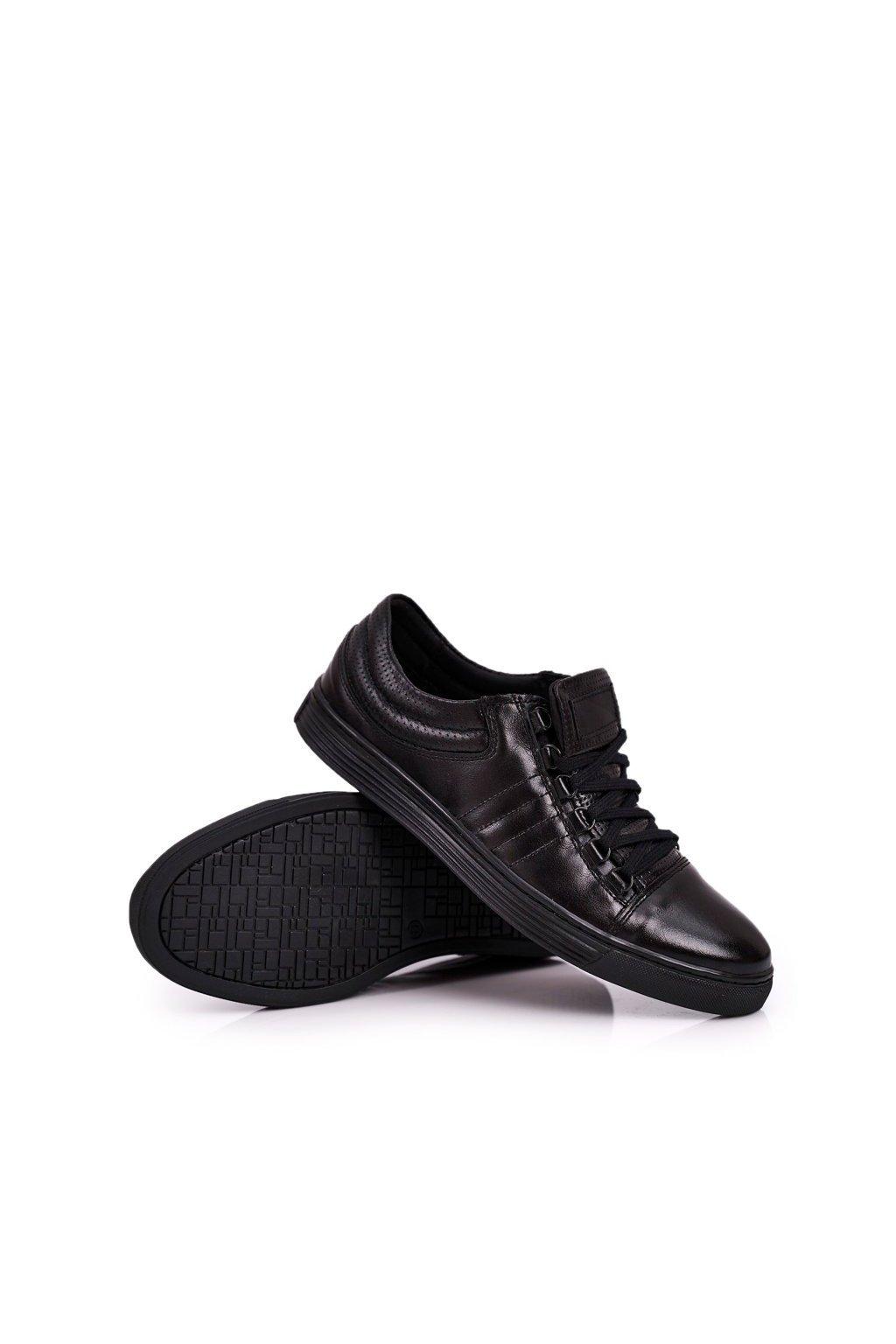 Pánske poltopánky farba čierna kód obuvi 305 BLACK
