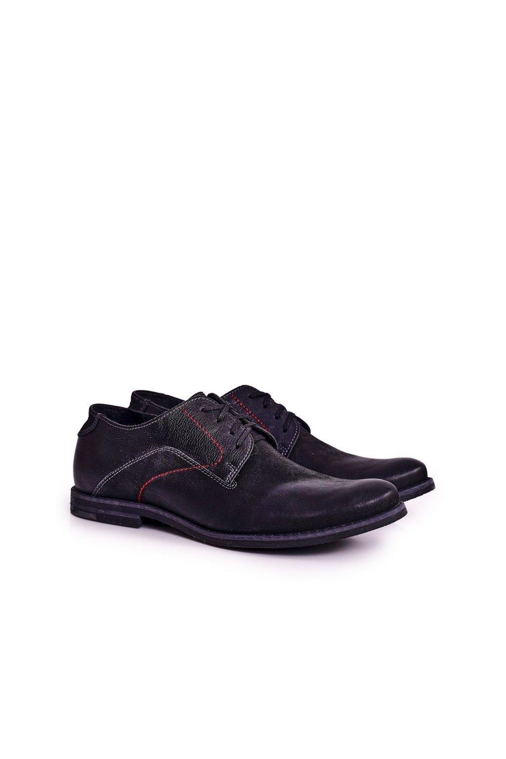 Pánske poltopánky farba čierna kód obuvi 138 BLACK