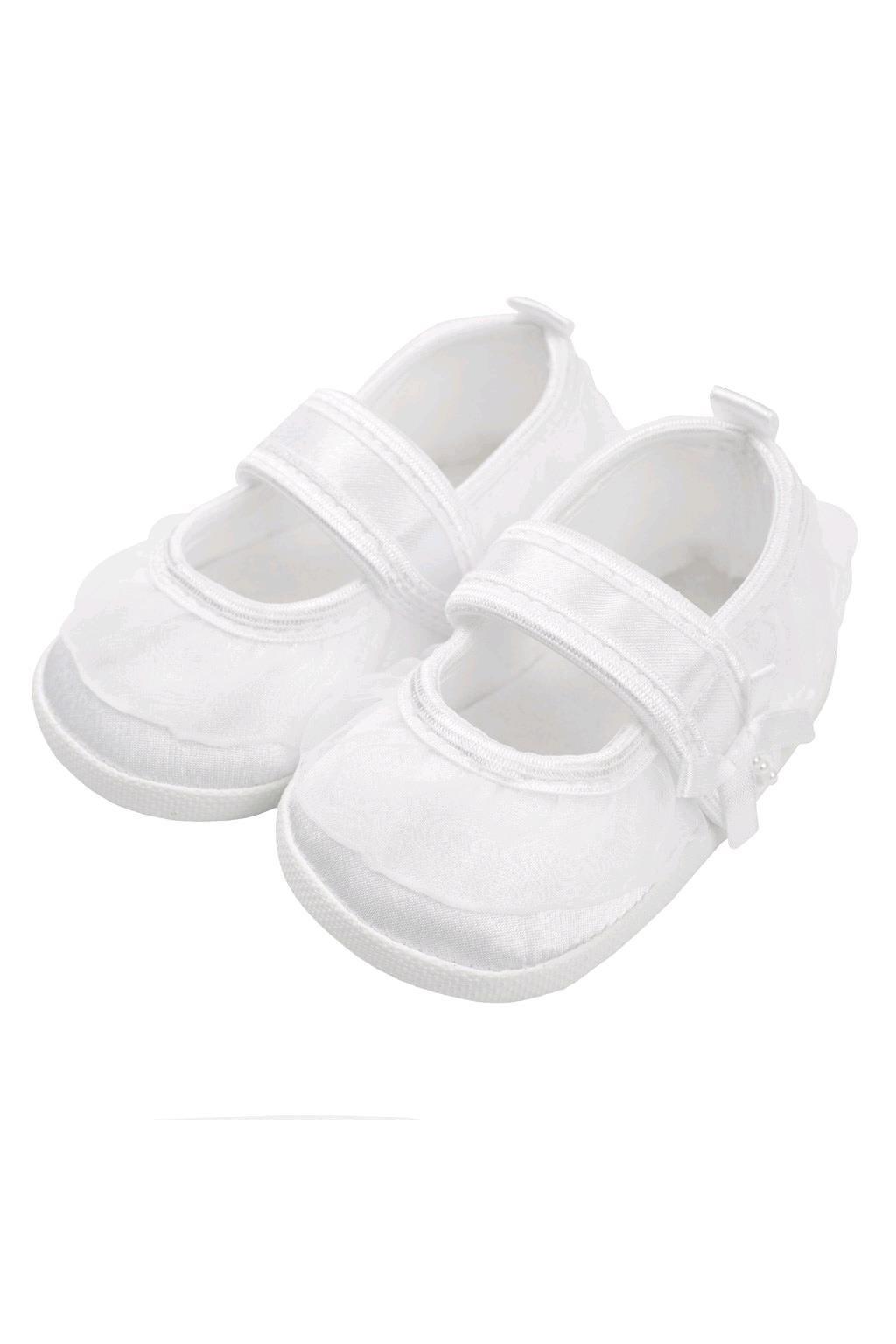 Dojčenské capačky New Baby saténové biele 12-18 m